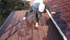 屋根板金型塗装工事